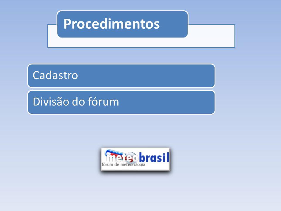 Procedimentos Cadastro Divisão do fórum
