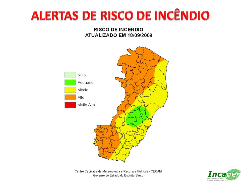 ALERTAS DE RISCO DE INCÊNDIO