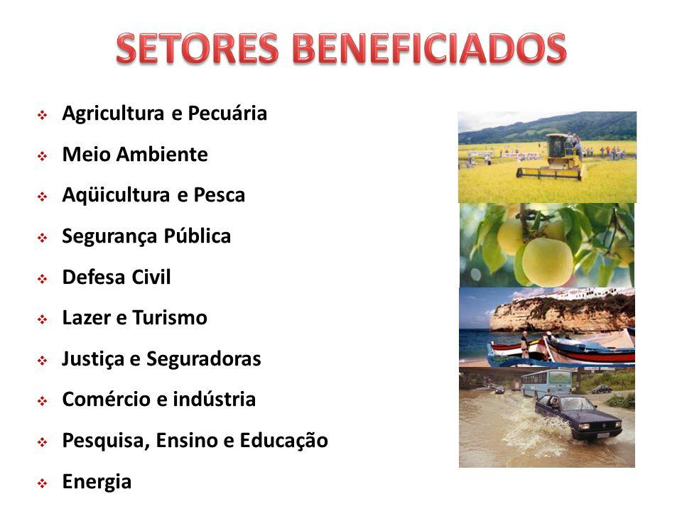 SETORES BENEFICIADOS Agricultura e Pecuária Meio Ambiente