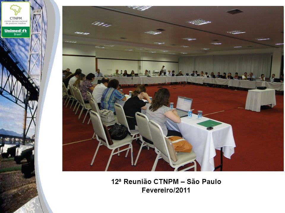 12ª Reunião CTNPM – São Paulo