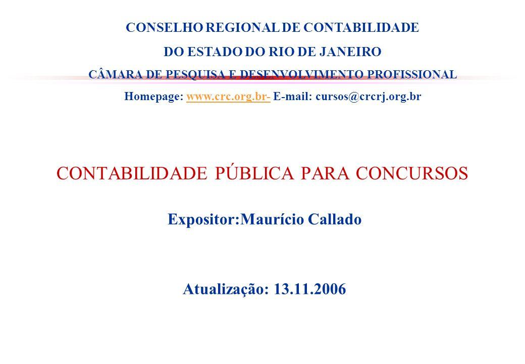 CONTABILIDADE PÚBLICA PARA CONCURSOS