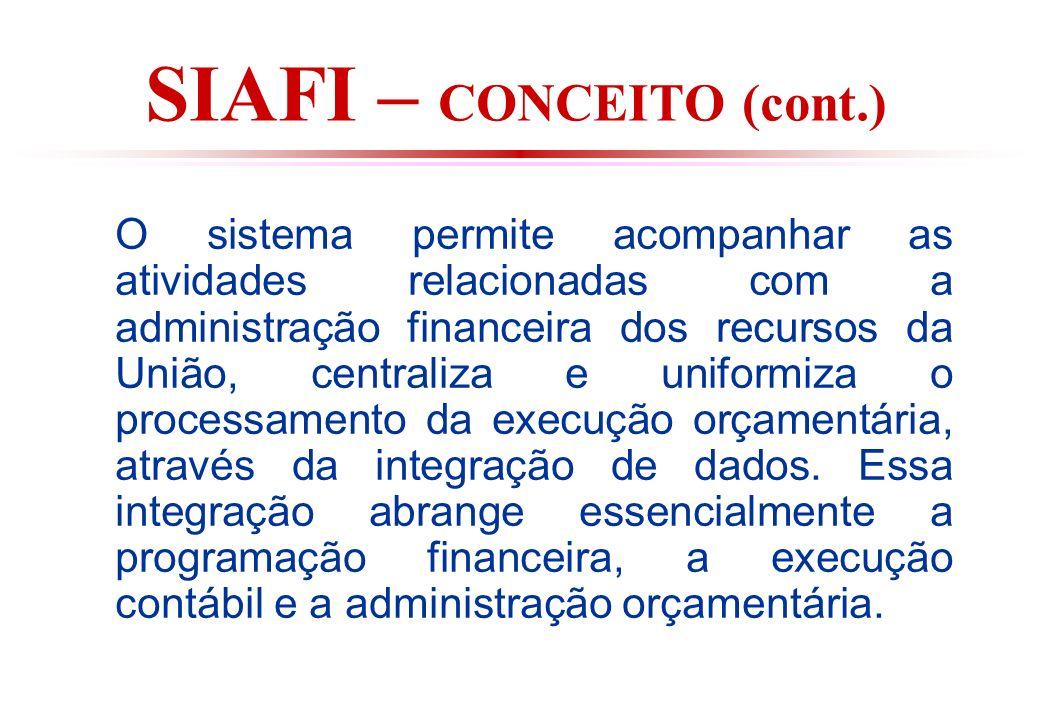 SIAFI – CONCEITO (cont.)