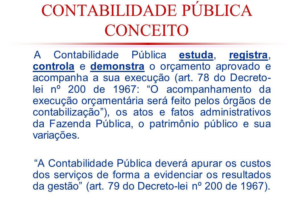 CONTABILIDADE PÚBLICA CONCEITO