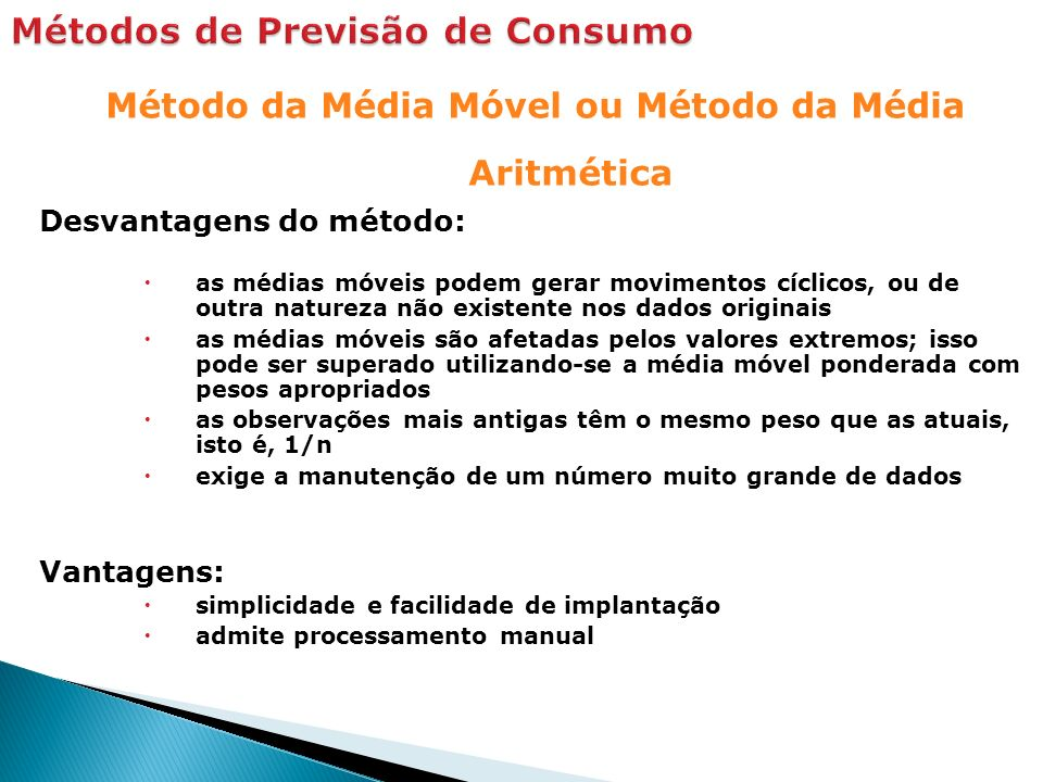 Métodos de Previsão de Consumo
