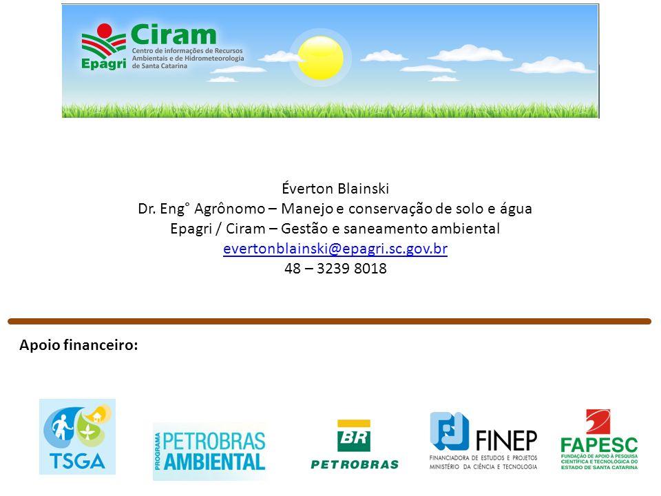 Dr. Eng° Agrônomo – Manejo e conservação de solo e água