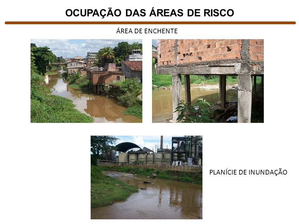 OCUPAÇÃO DAS ÁREAS DE RISCO