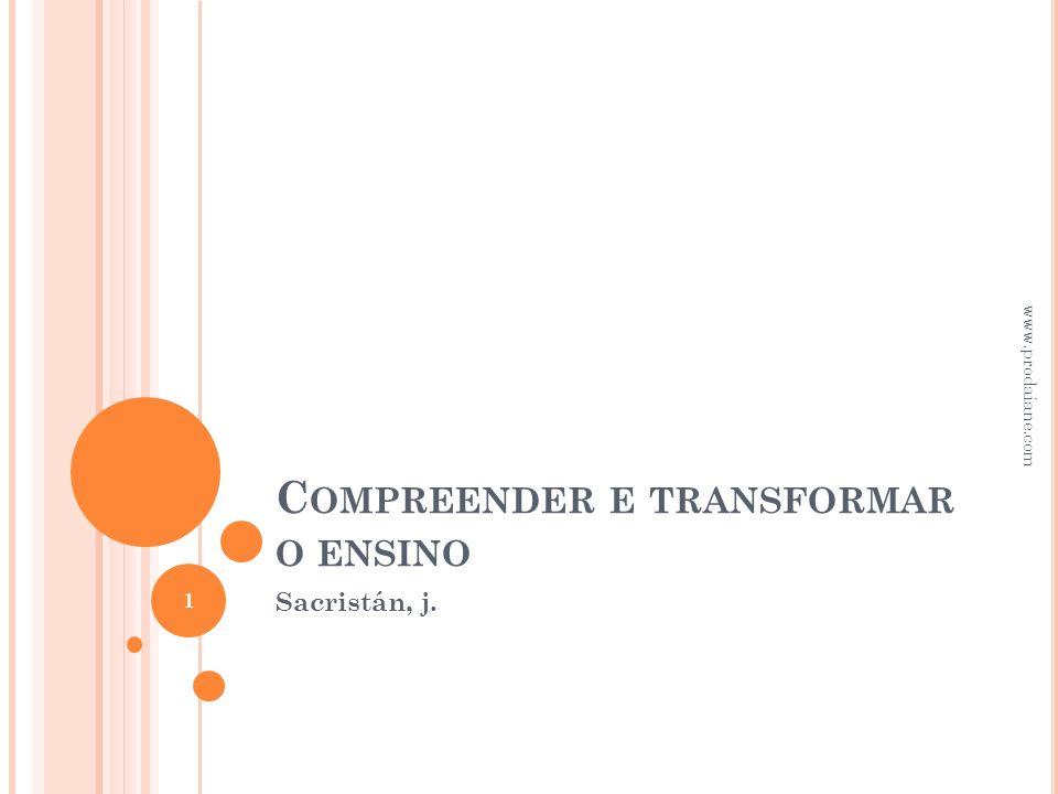 Compreender e transformar o ensino
