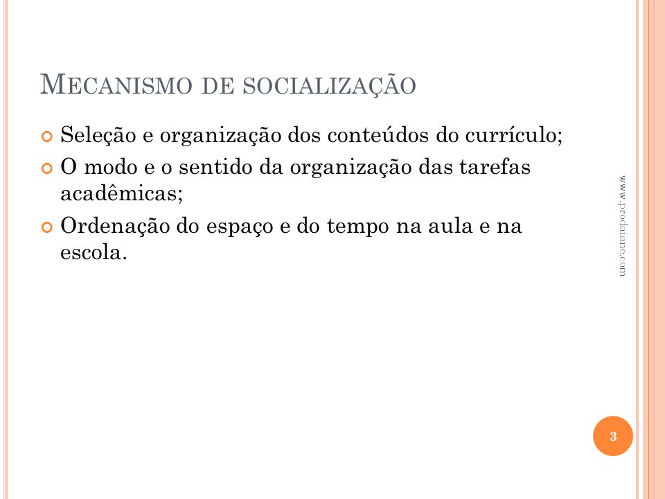 Mecanismo de socialização