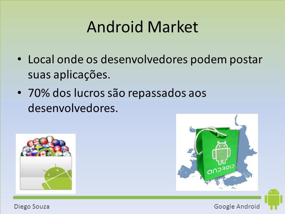 Android Market Local onde os desenvolvedores podem postar suas aplicações.