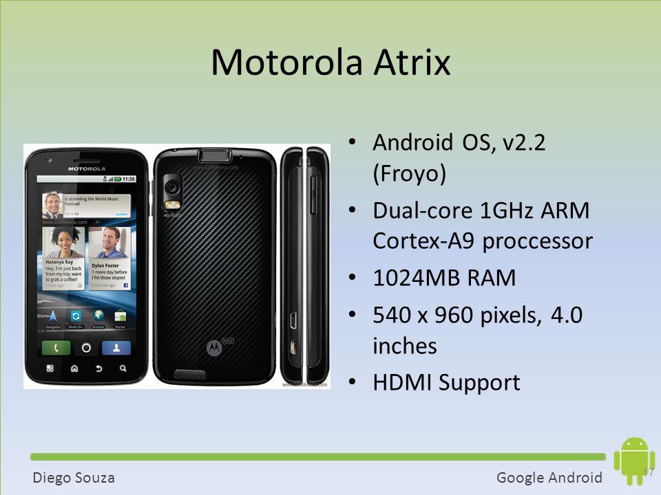 Motorola Atrix Android OS, v2.2 (Froyo)