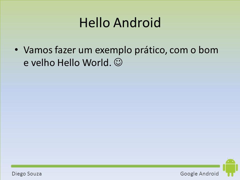 Hello Android Vamos fazer um exemplo prático, com o bom e velho Hello World. 
