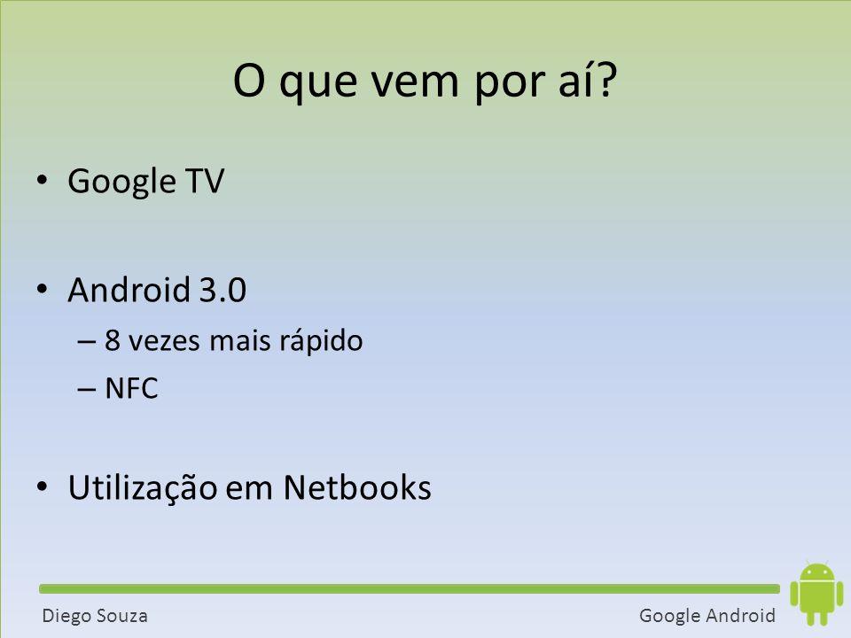 O que vem por aí Google TV Android 3.0 Utilização em Netbooks