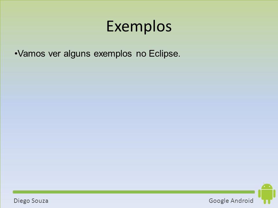 Exemplos Vamos ver alguns exemplos no Eclipse. 54