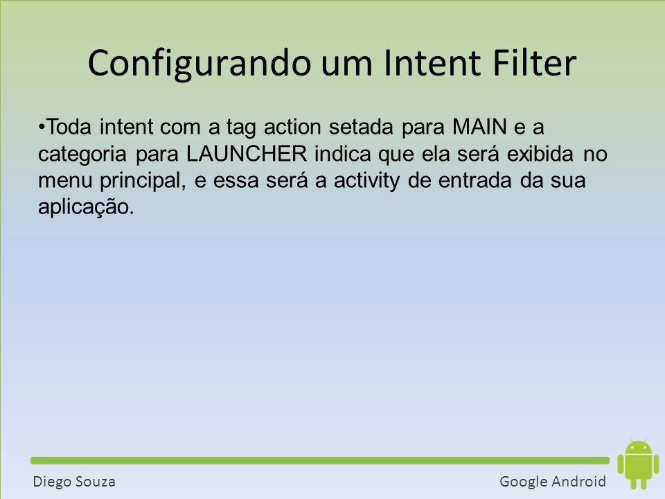 Configurando um Intent Filter