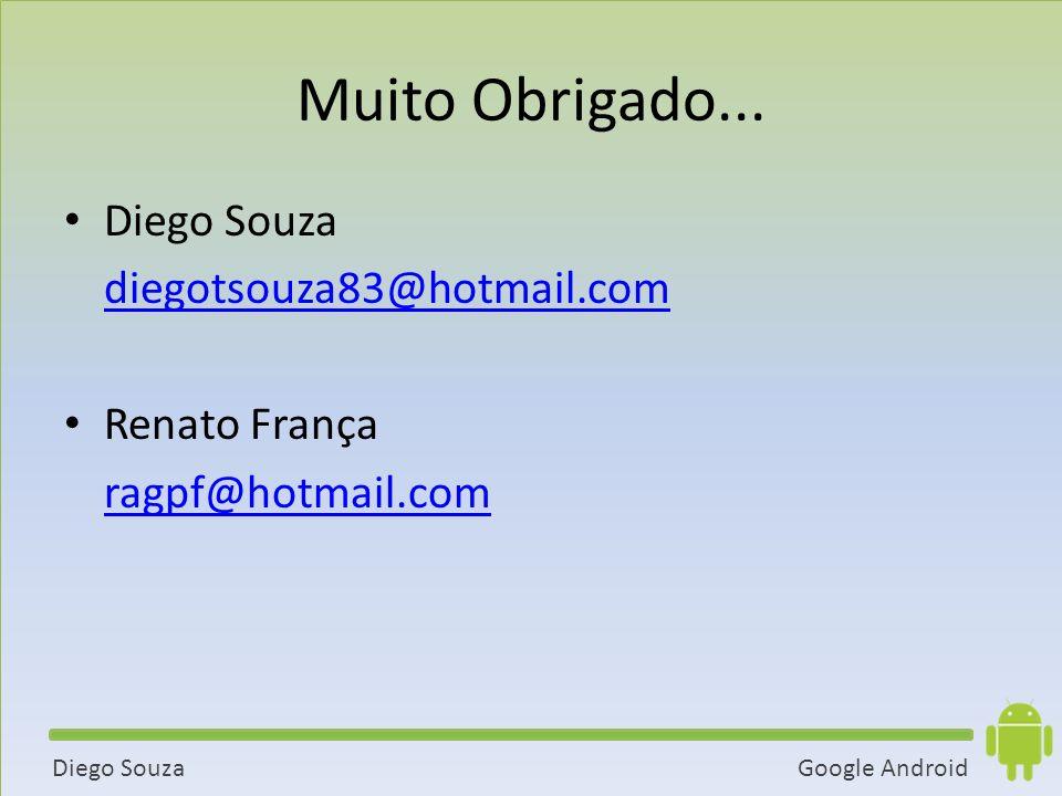 Muito Obrigado... Diego Souza diegotsouza83@hotmail.com Renato França