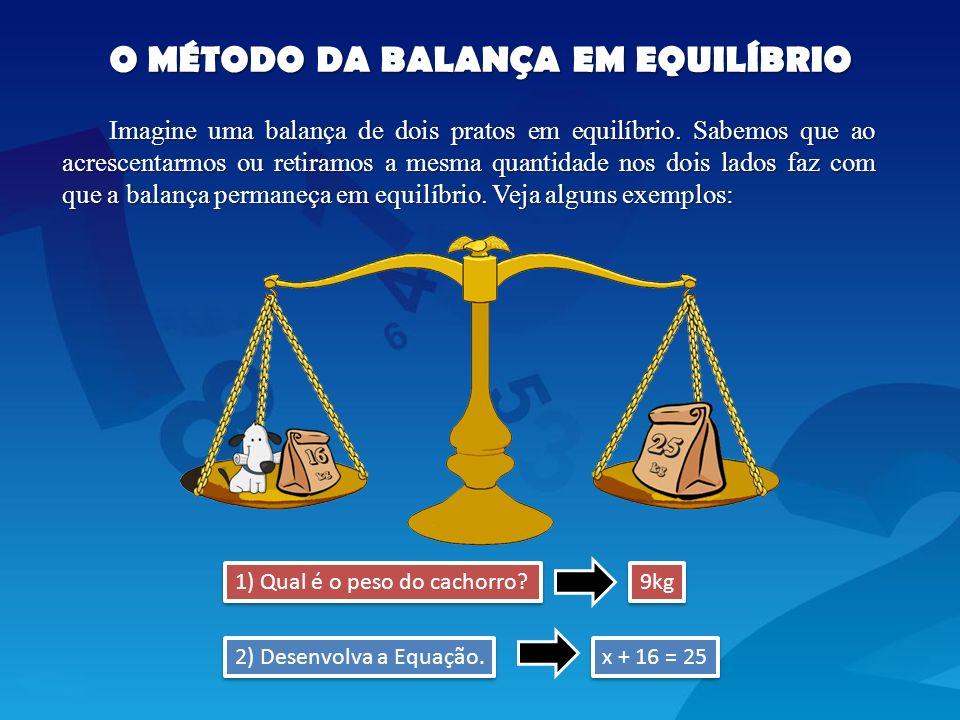 O MÉTODO DA BALANÇA EM EQUILÍBRIO