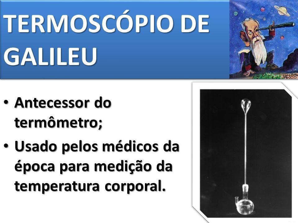 TERMOSCÓPIO DE GALILEU