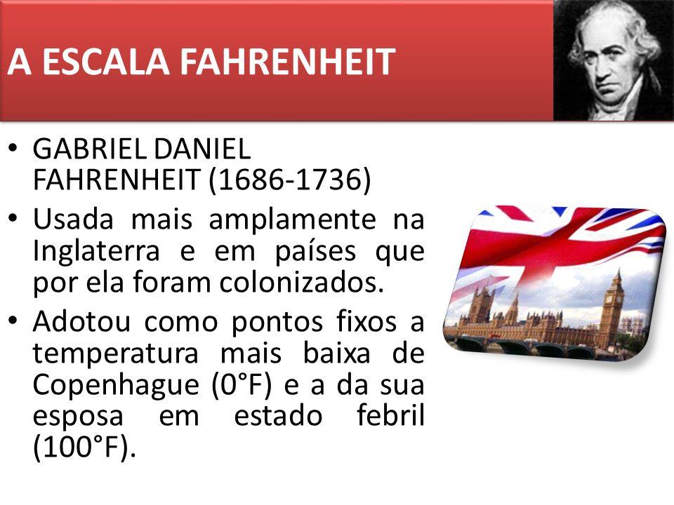 A ESCALA FAHRENHEIT GABRIEL DANIEL FAHRENHEIT (1686-1736)