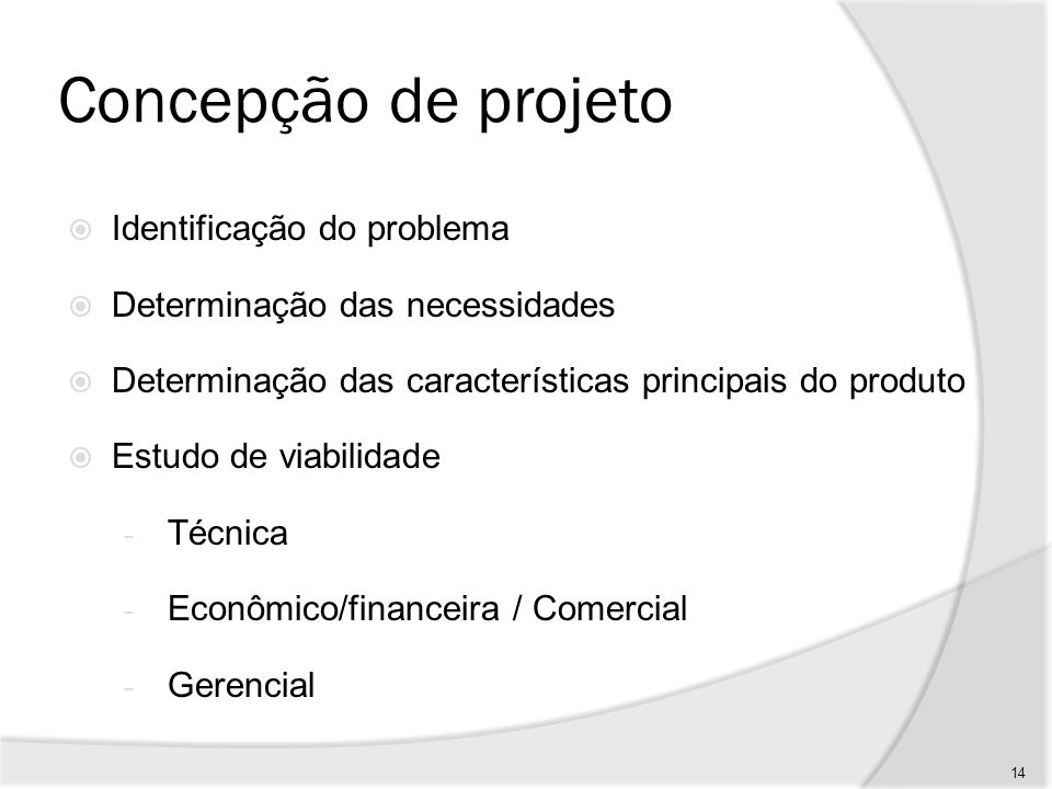 Concepção de projeto Identificação do problema