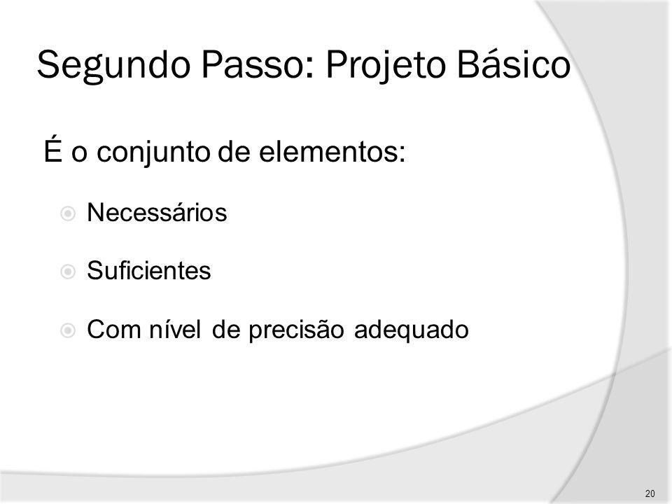 Segundo Passo: Projeto Básico