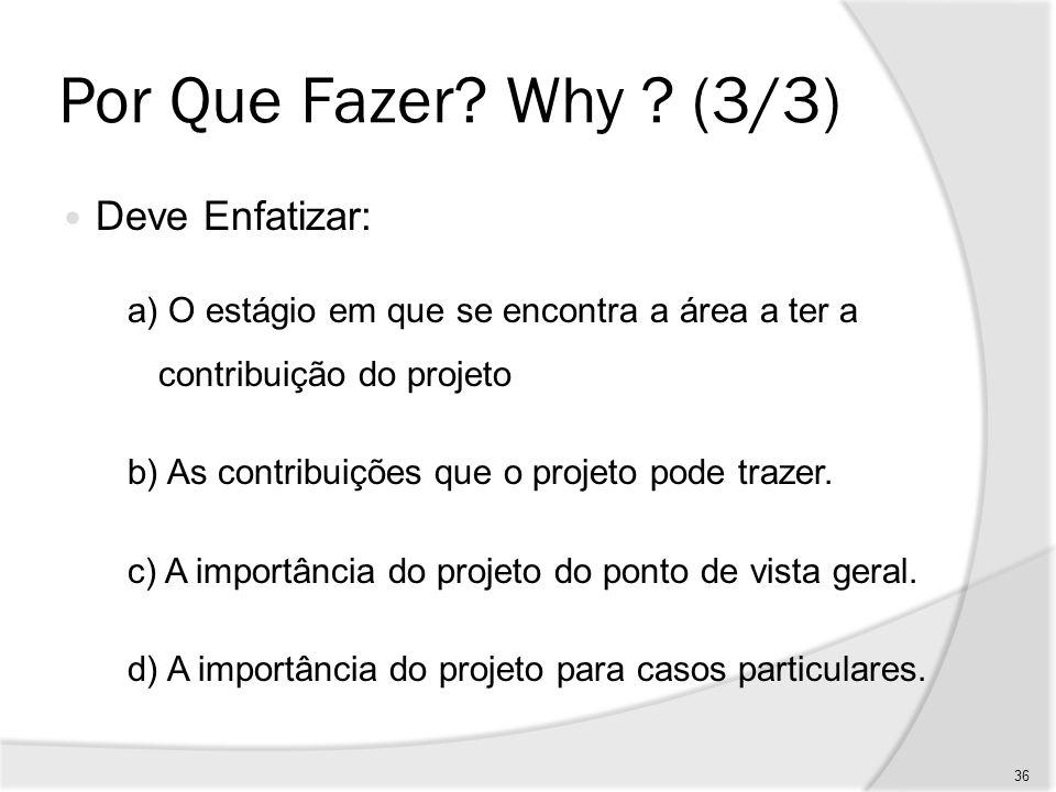 Por Que Fazer Why (3/3) Deve Enfatizar:
