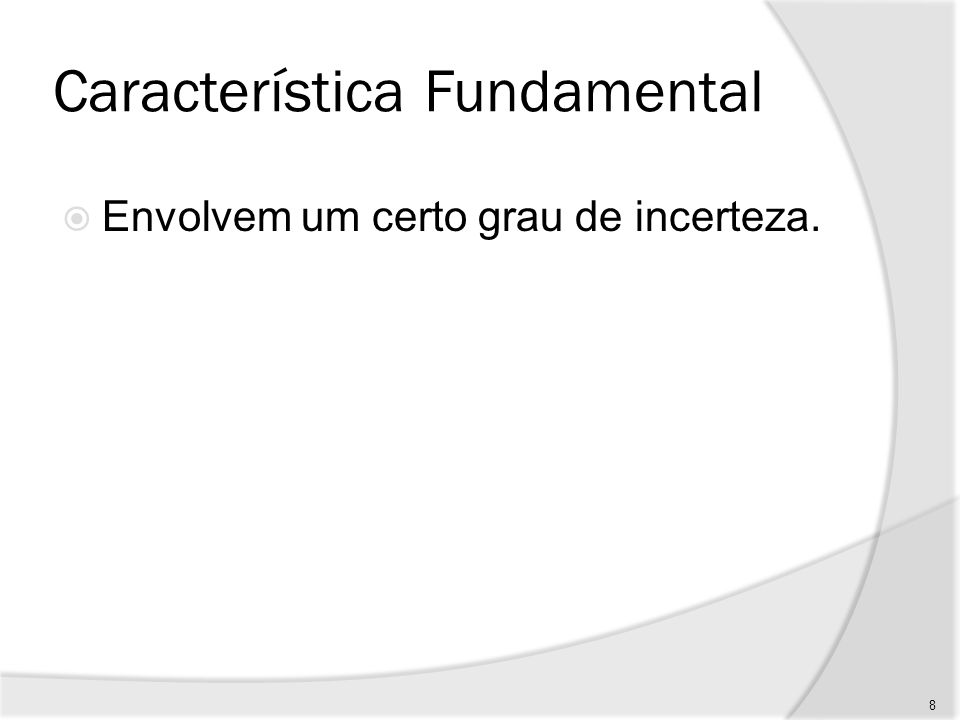 Característica Fundamental