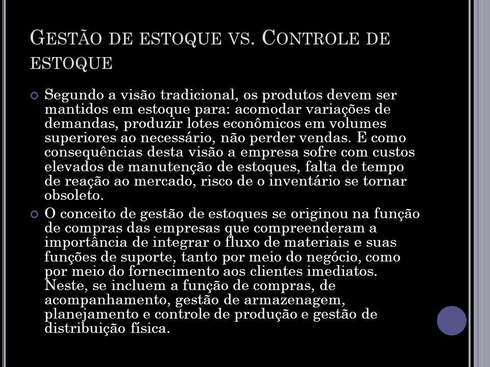 Gestão de estoque vs. Controle de estoque