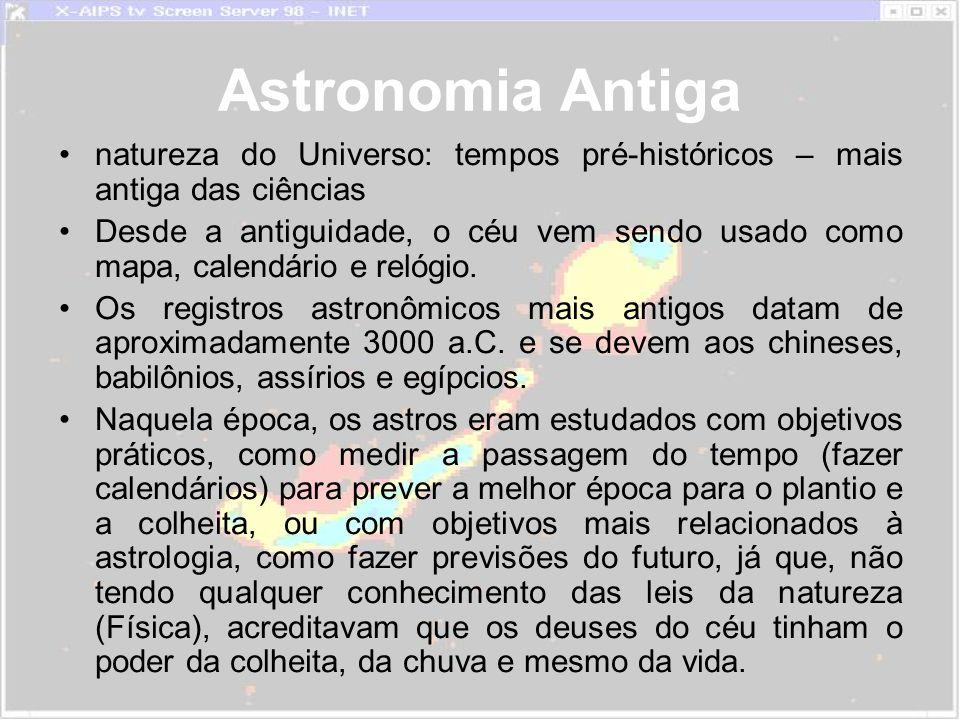 Astronomia Antiga natureza do Universo: tempos pré-históricos – mais antiga das ciências.