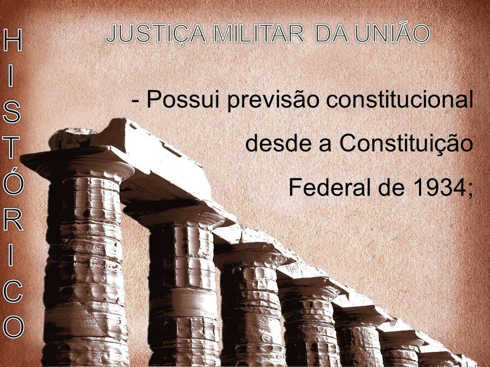 JUSTIÇA MILITAR DA UNIÃO