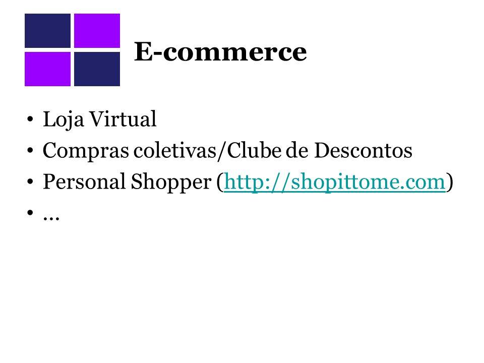 E-commerce Loja Virtual Compras coletivas/Clube de Descontos