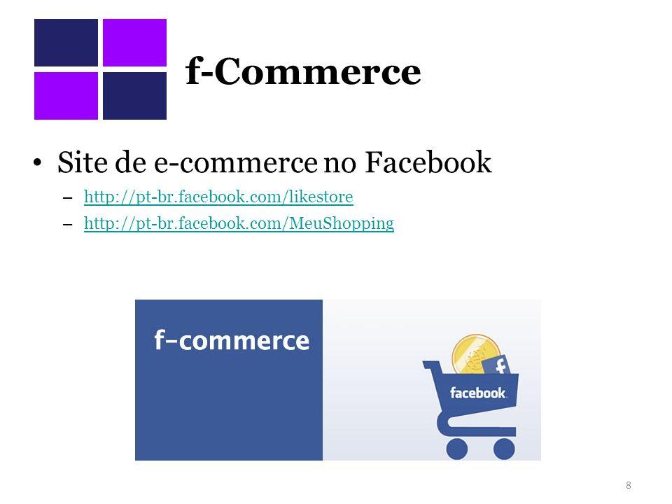 f-Commerce Site de e-commerce no Facebook