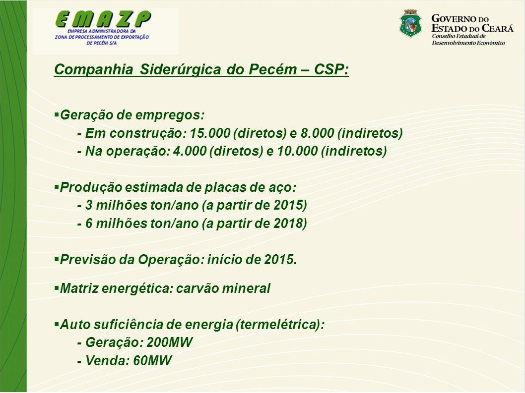 Companhia Siderúrgica do Pecém – CSP: