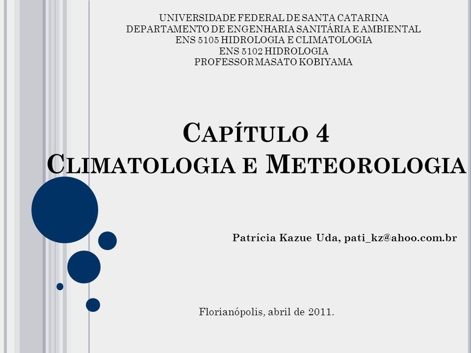Capítulo 4 Climatologia e Meteorologia