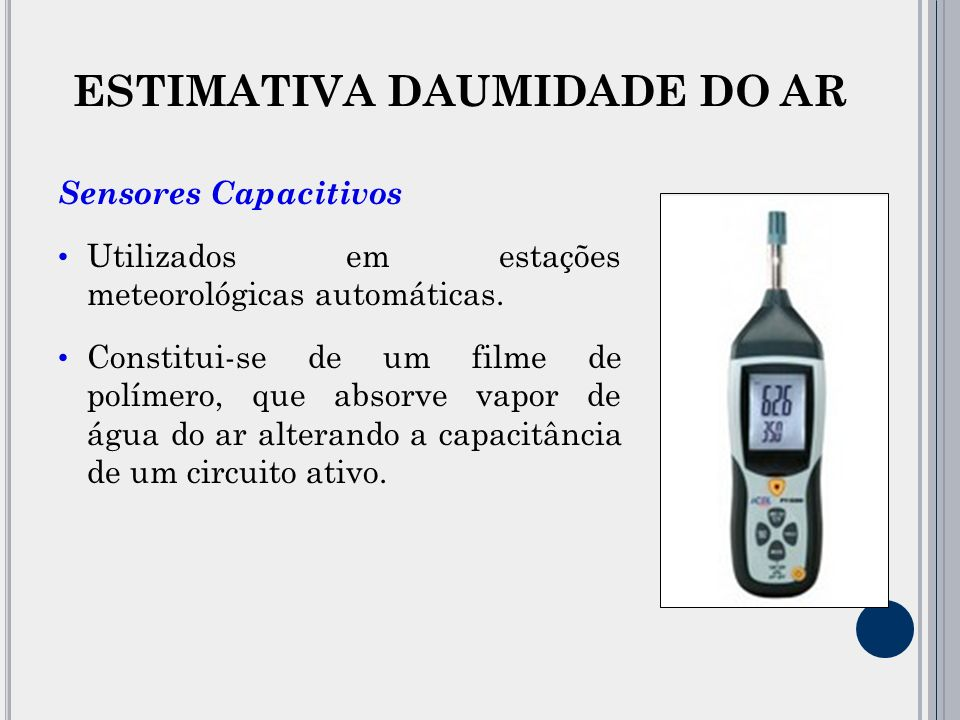 ESTIMATIVA DAUMIDADE DO AR
