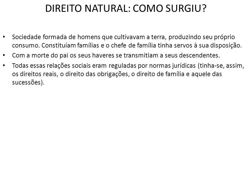 DIREITO NATURAL: COMO SURGIU