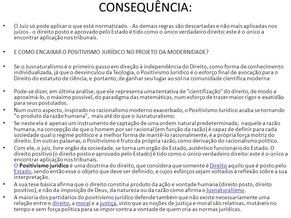 CONSEQUÊNCIA: