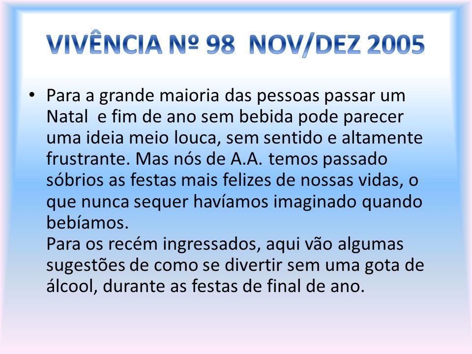 VIVÊNCIA Nº 98 NOV/DEZ 2005