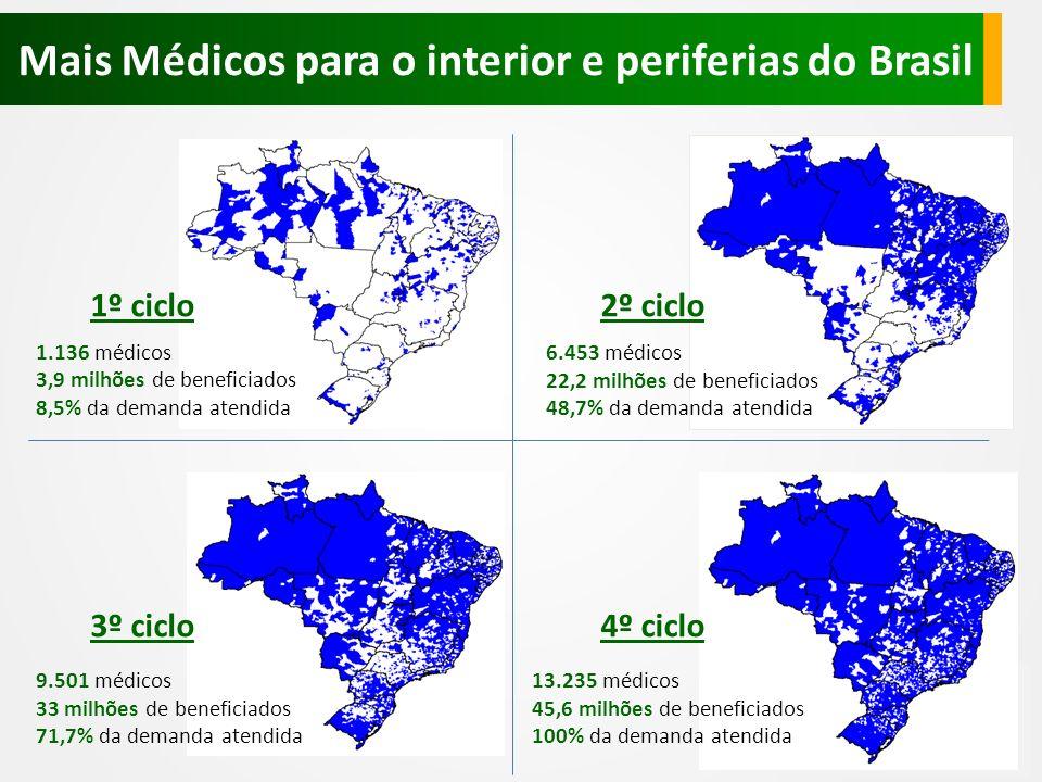 Mais Médicos para o interior e periferias do Brasil