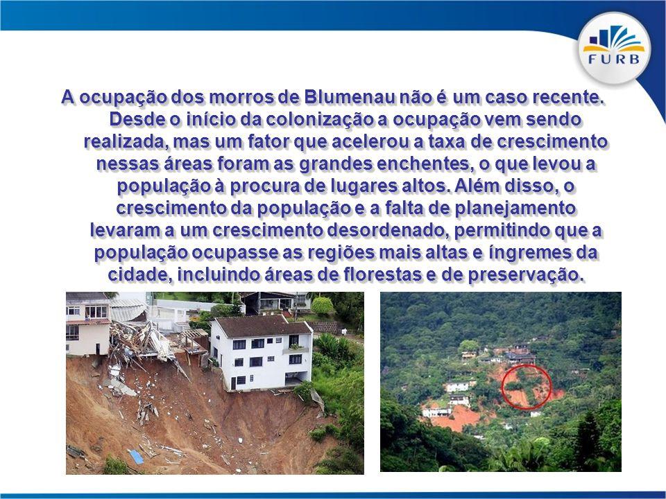 A ocupação dos morros de Blumenau não é um caso recente