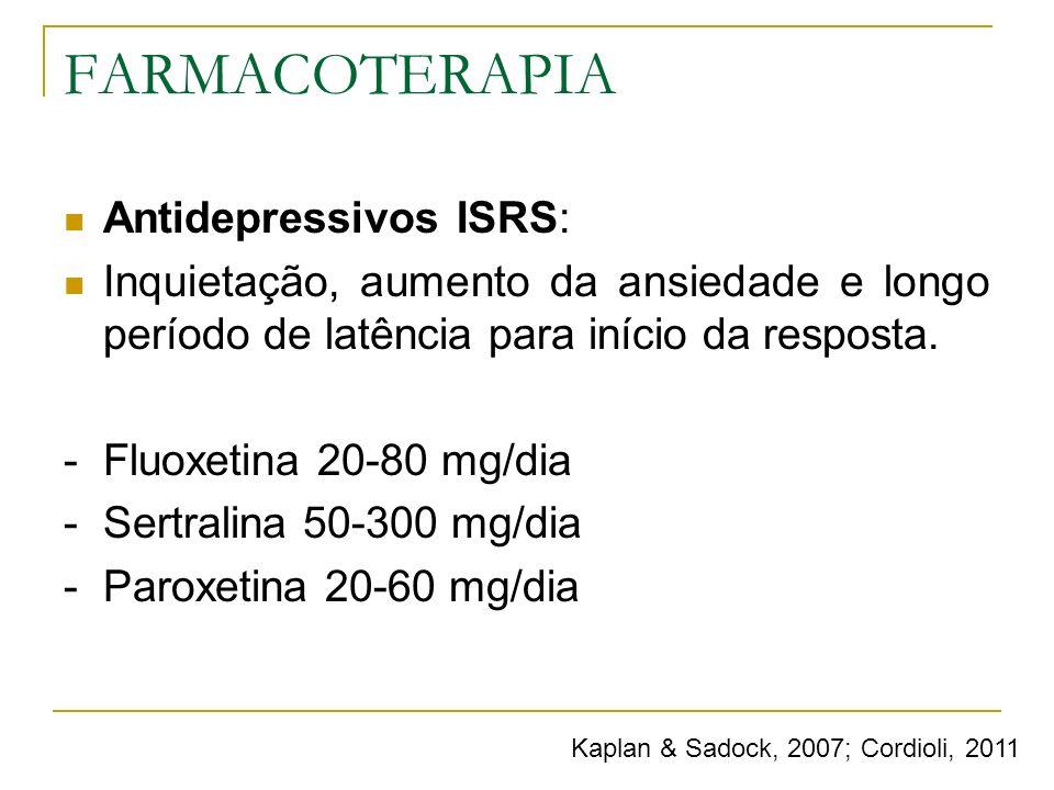 FARMACOTERAPIA Antidepressivos ISRS: