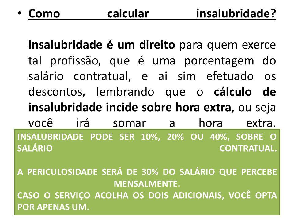 Como calcular insalubridade