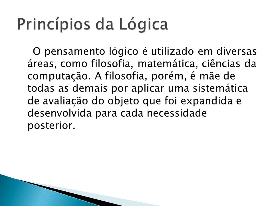 Princípios da Lógica