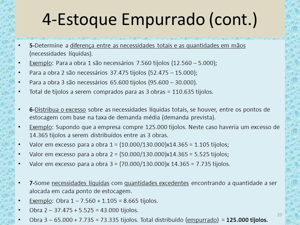 4-Estoque Empurrado (cont.)