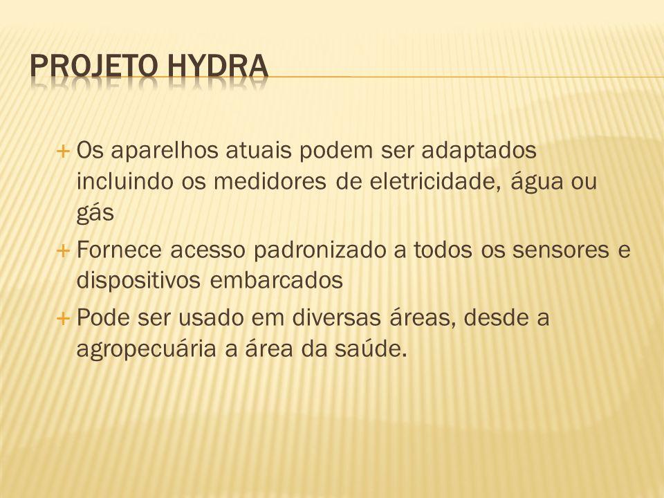 Projeto Hydra Os aparelhos atuais podem ser adaptados incluindo os medidores de eletricidade, água ou gás.