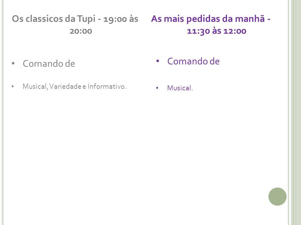 Os classicos da Tupi - 19:00 às 20:00