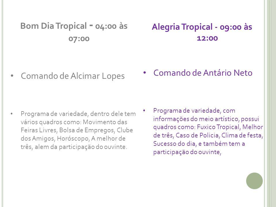 Alegria Tropical - 09:00 às 12:00