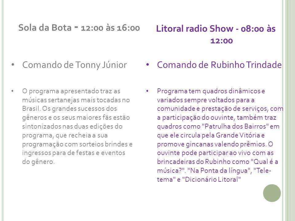 Litoral radio Show - 08:00 às 12:00