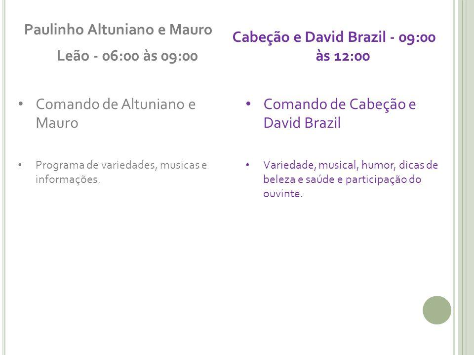 Paulinho Altuniano e Mauro Leão - 06:00 às 09:00