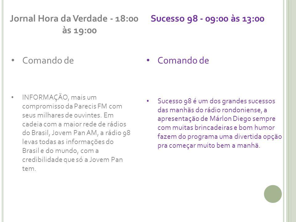 Jornal Hora da Verdade - 18:00 às 19:00