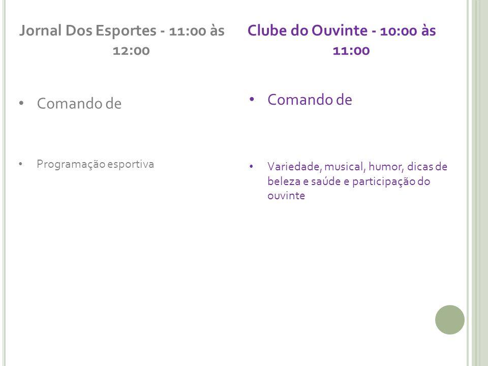 Jornal Dos Esportes - 11:00 às 12:00